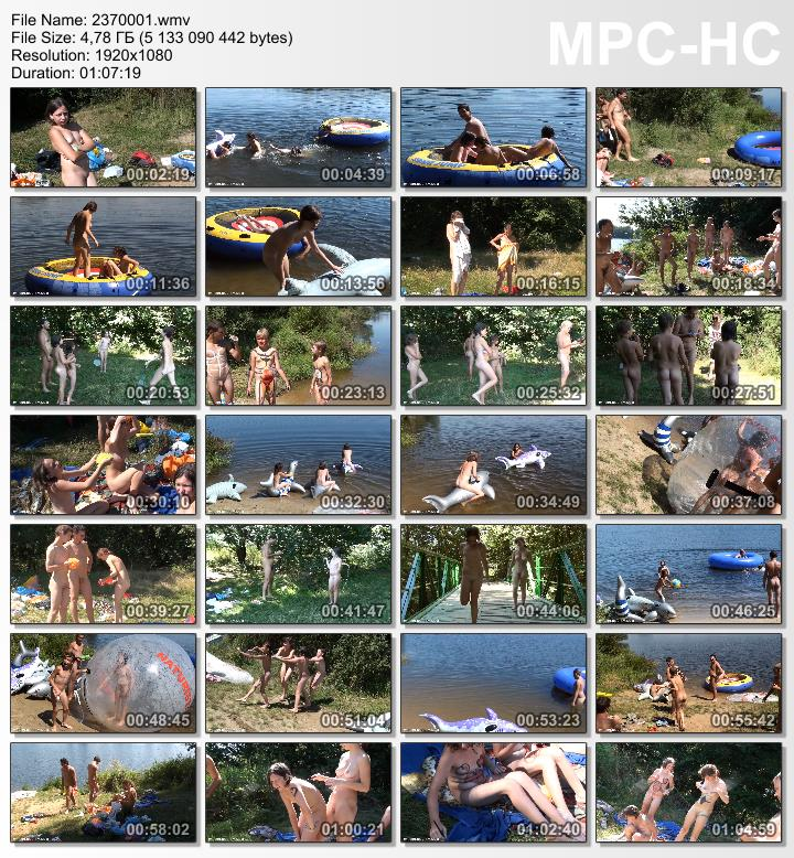 Family nudism video - Nude and hot summer day