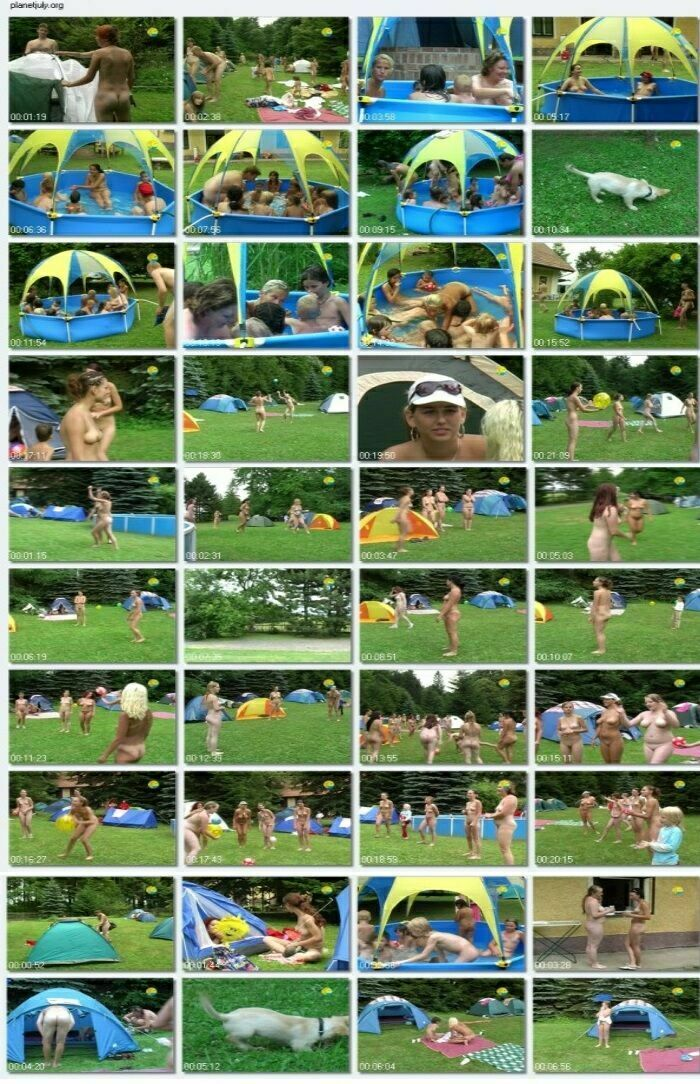 Naturist Family Freedom - Playing With a Ball