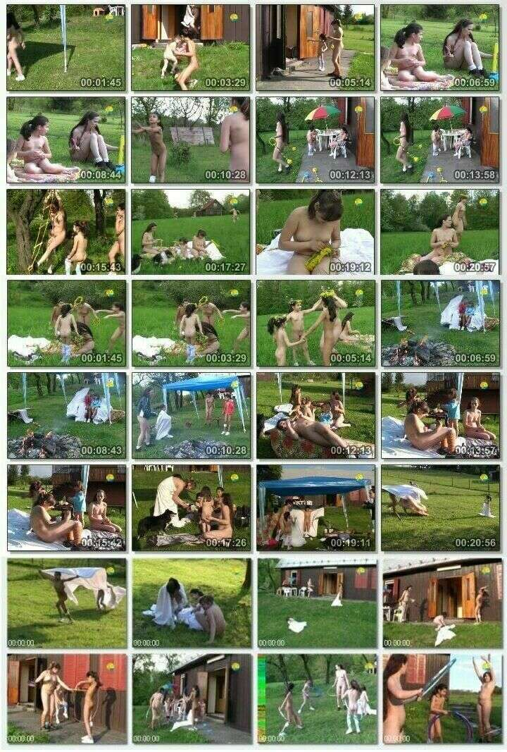 Video of family events of nudists - With Mum at the Cottage