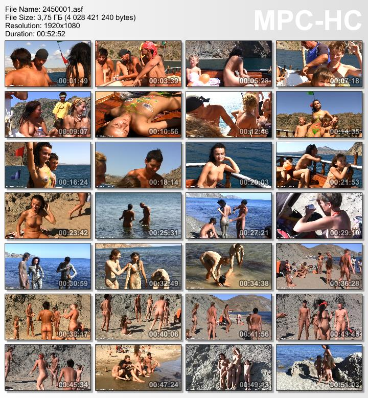 Ukrainian Sea Boating - Family of nudists video HD