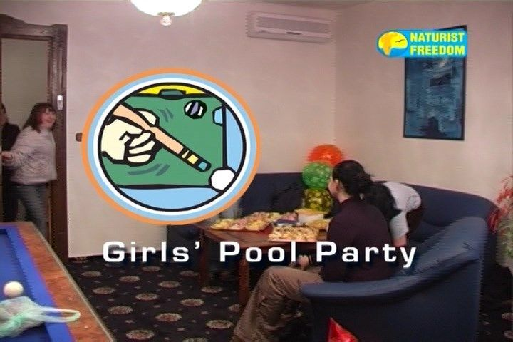 Girls naturists game of pool